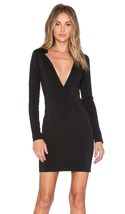 AQ/AQ Sez Mini Dress in Black