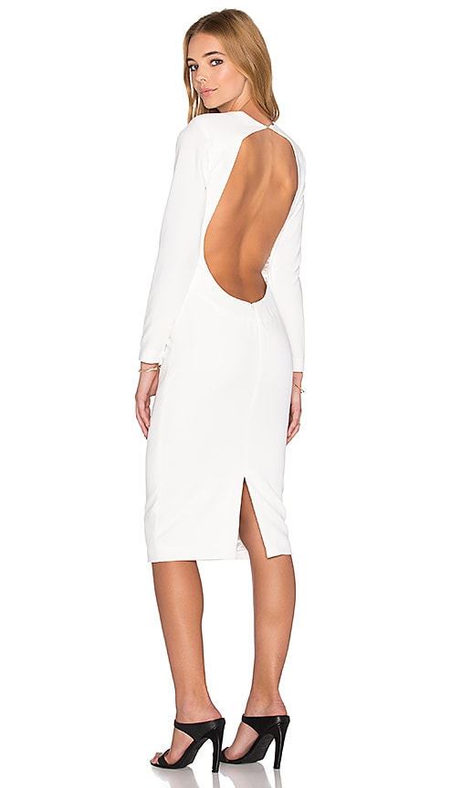 AQ/AQ Zizon Midi Dress in Cream