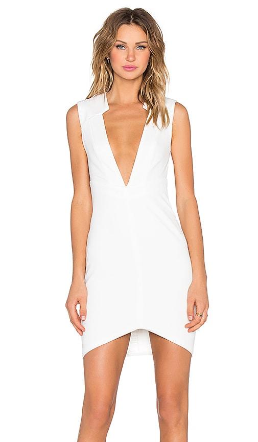 AQ/AQ Copic Mini Dress in Cream