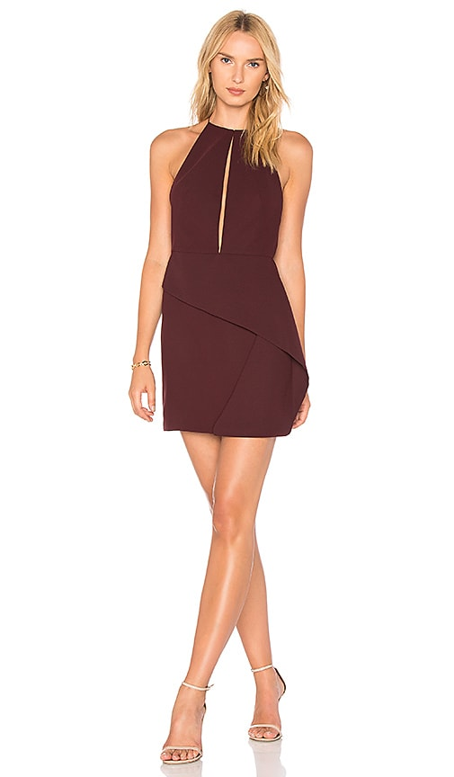 AQ/AQ Andie Dress in Wine