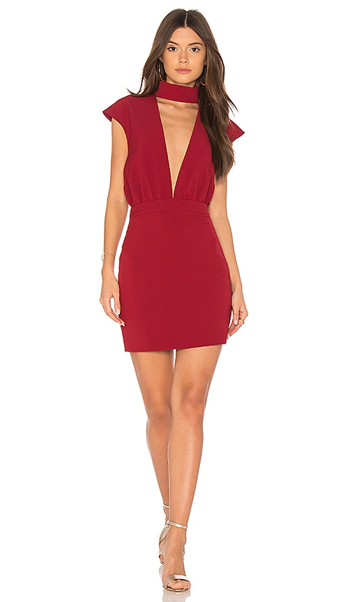 AQ/AQ Dakota Mini Dress in Wine