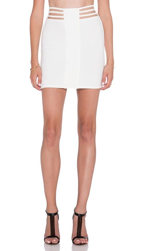 AQ/AQ Dash Mini Skirt in Cream
