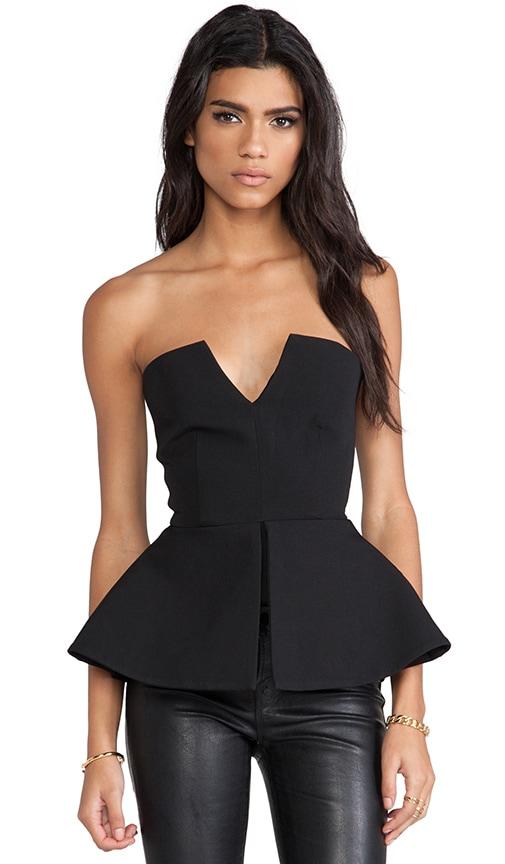 Scavo Sleeveless Bodysuit w/ Peplum