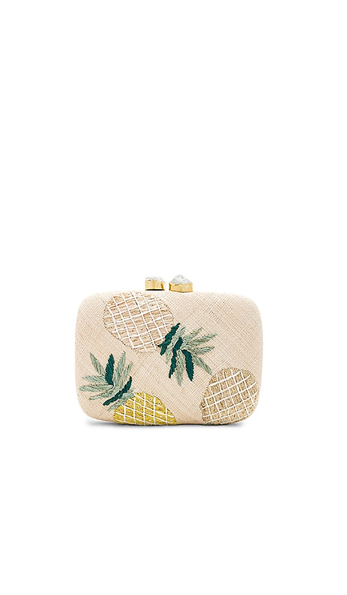 Aranaz Pina Tres Clutch in Cream