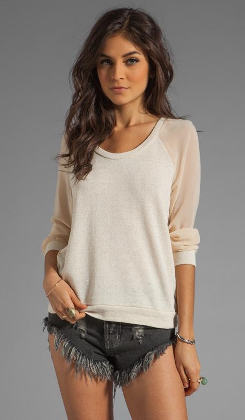 Della Chiffon Contrast Sweater