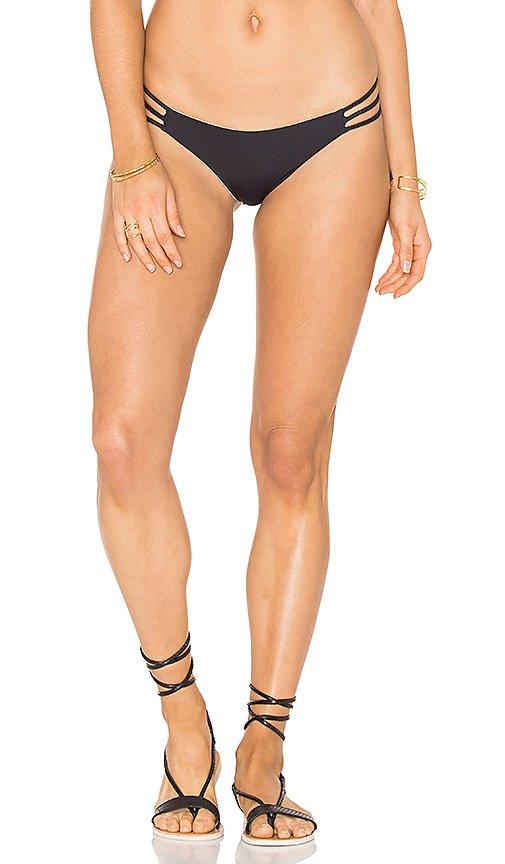 ARROW & EVE Andrea Braid Reversible Bikini Bottom in Black