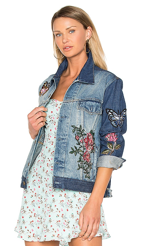 AS65 Embroidered Denim Jacket in Blue