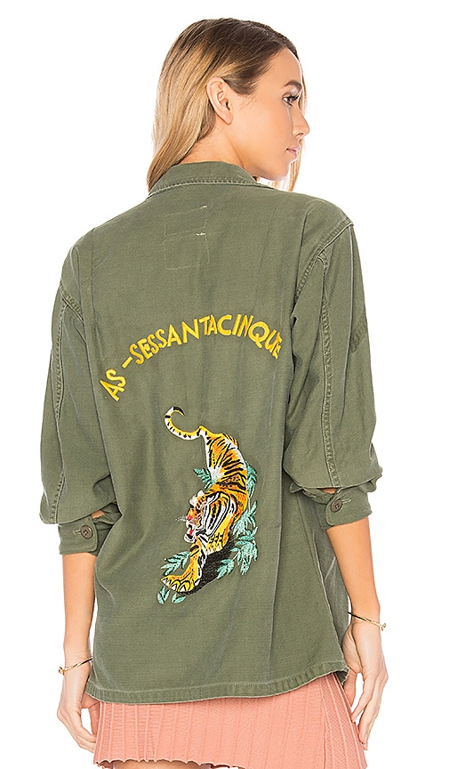AS65 Military Vintage Tiger Shirt in Green