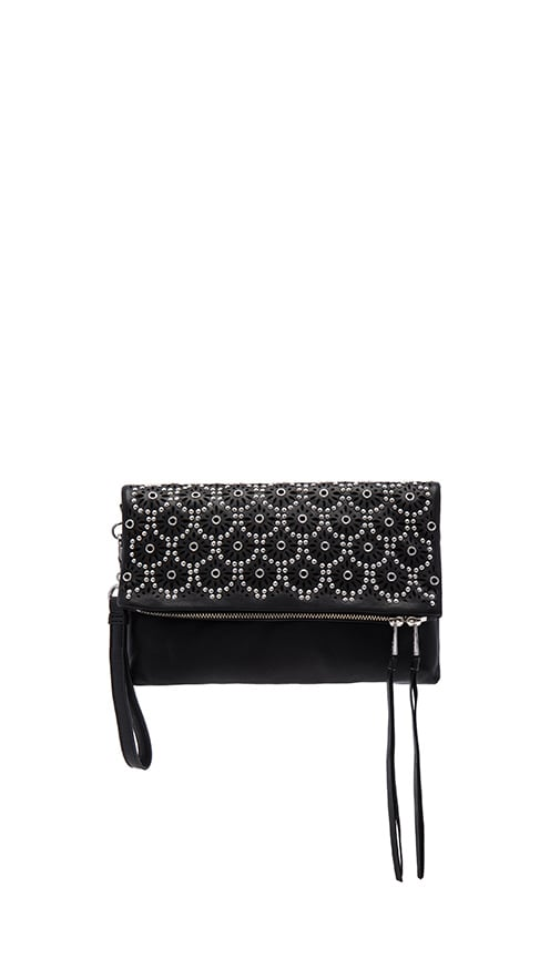 Ash Daisy Clutch in Black