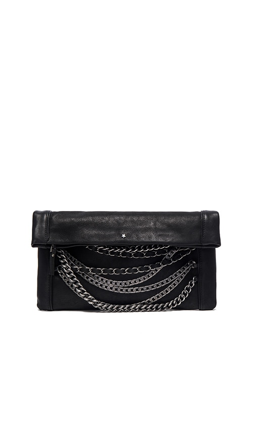 Ash Domino Clutch in Black