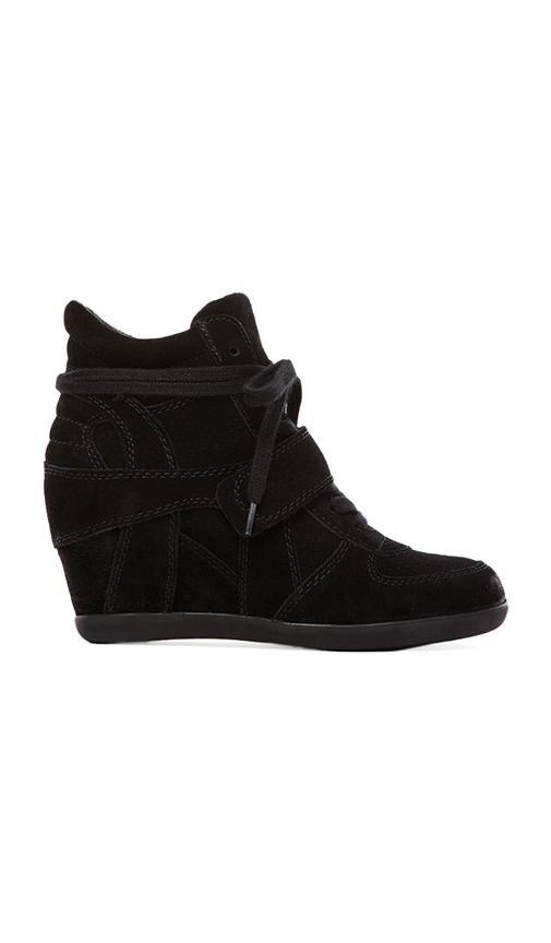 Bowie Calf Suede Sneaker Wedge