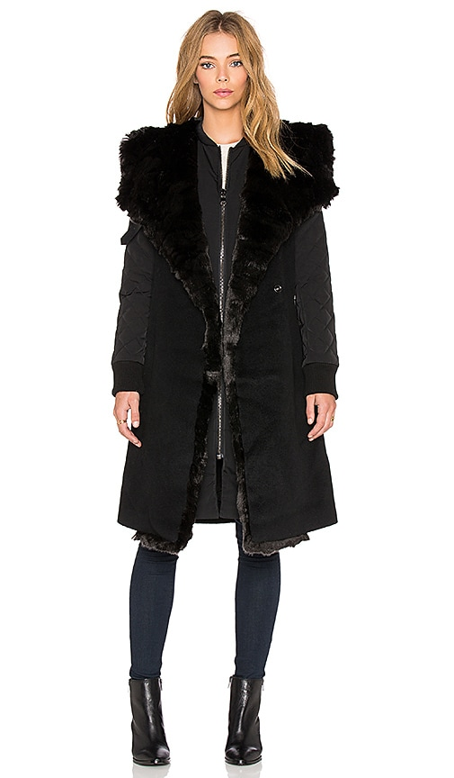Faux Fur Collar 2-in-1 Memory Jacket