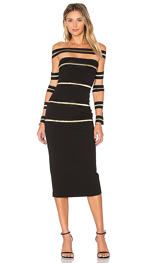 ASILIO Gold Runner Dress in Black