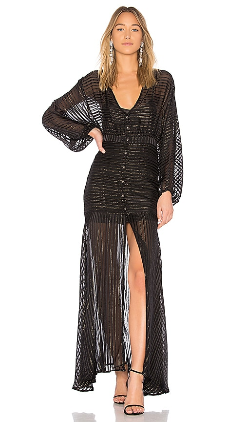 ASILIO Star Fall Dress in Black