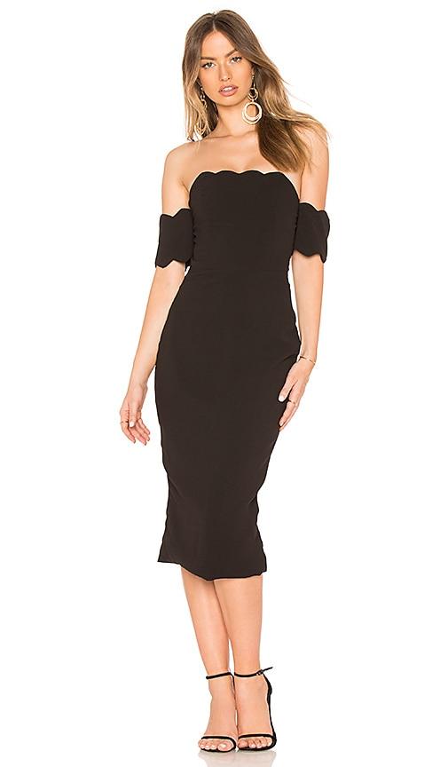 ASILIO Dark Nights Strapless Dress in Black