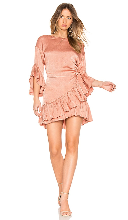 ASILIO Desert Horizon Wrap Dress in Rose