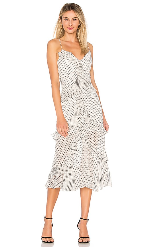 ASILIO Minute Spot Ruffle Dress in White