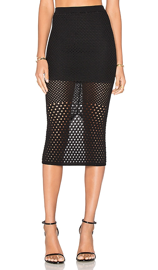ASILIO At First Sight Knit Skirt in Black