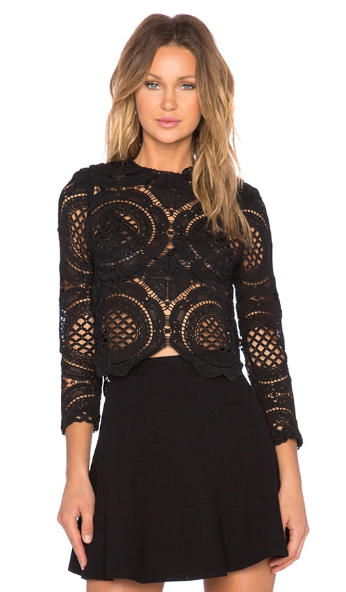 ASILIO White Walls Crop Top in Black