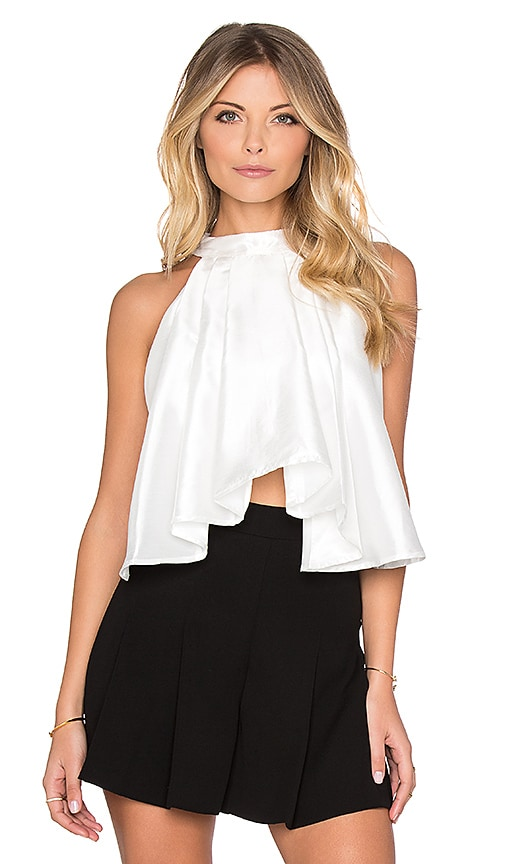 ASILIO Absent Minded Crop Top in White