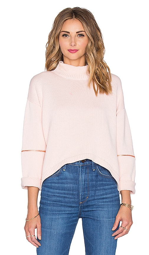 ASILIO Fierce Warrior Knit Top in Rose Water