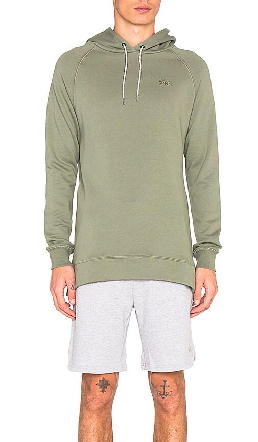 Asics Platinum Classic Pullover Hoodie in Olive