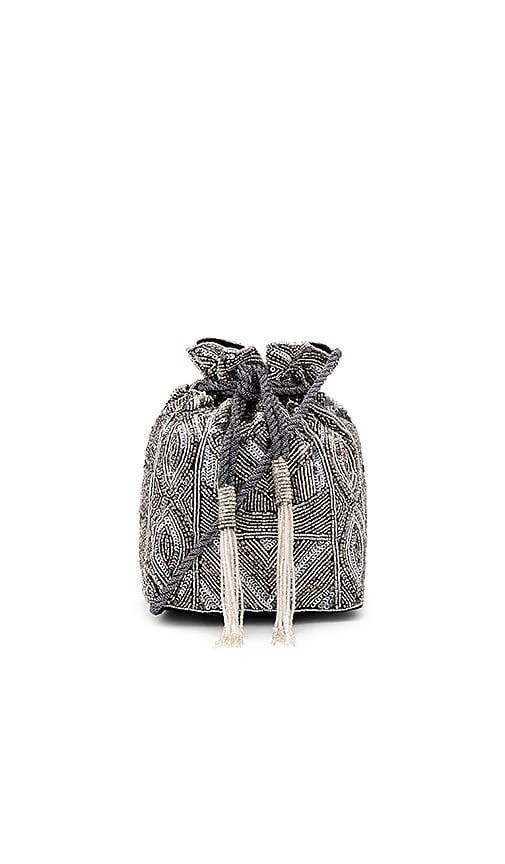 ASPIGA Pouch Bag in Metallic Silver