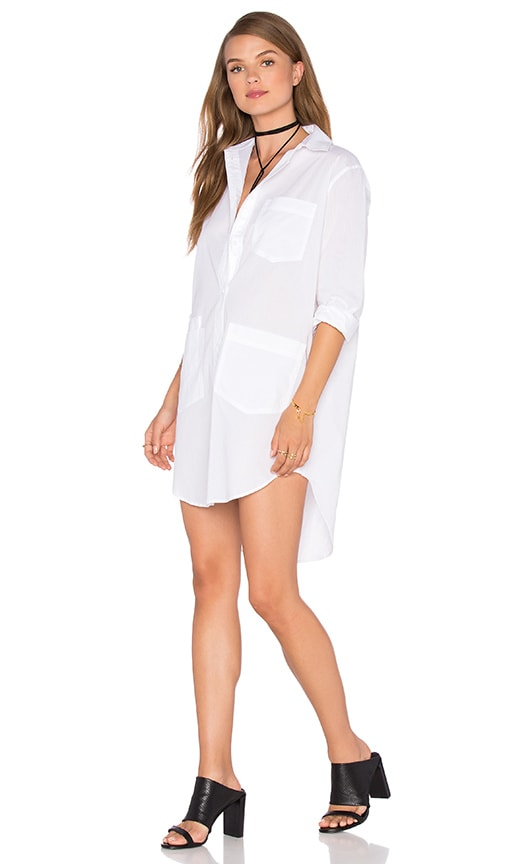 Assembly Label Fabric Shirt Dress in White