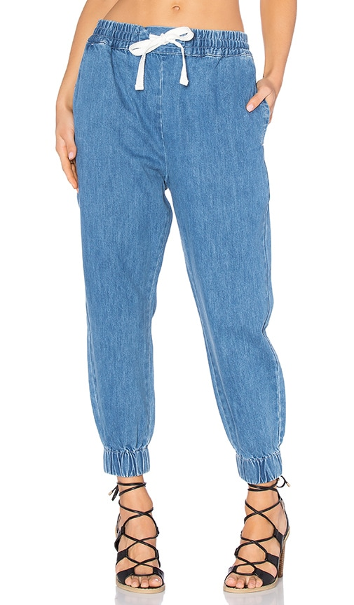 Assembly Label Clovelly Pant in Denim Stone Wash