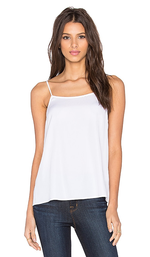 Assembly Label Scoop Neck Cami in White