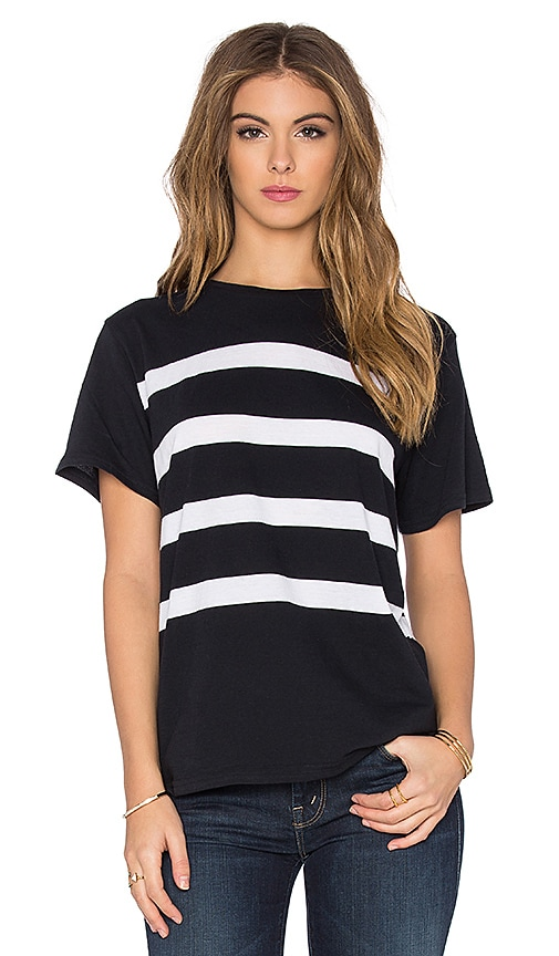 Assembly Label North Stripe Tee in Navy & White
