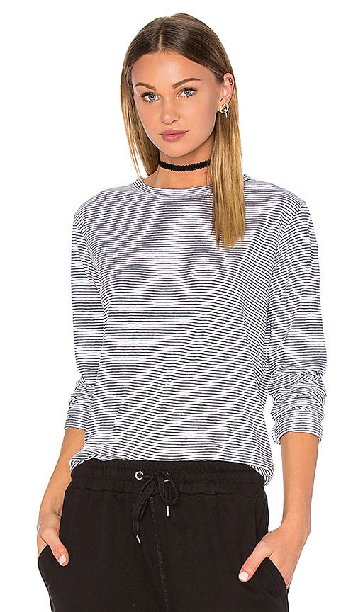Save Stripe Long Sleeve Tee