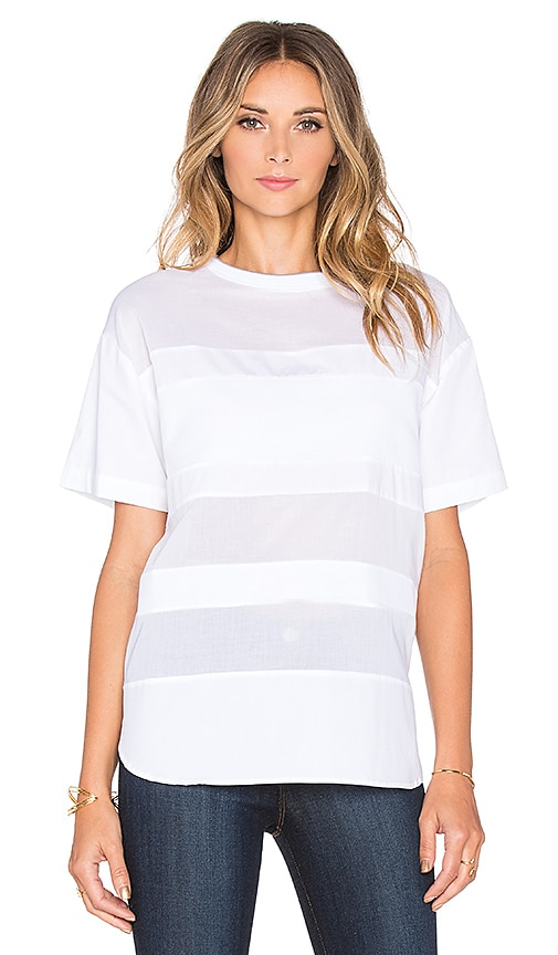 Assembly Label Linear Tee in White