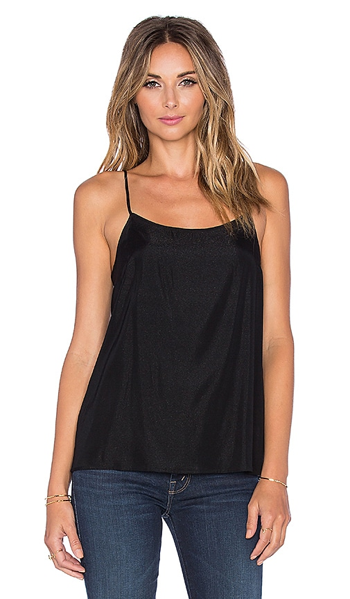 Assembly Label Scoop Neck Cami in Black