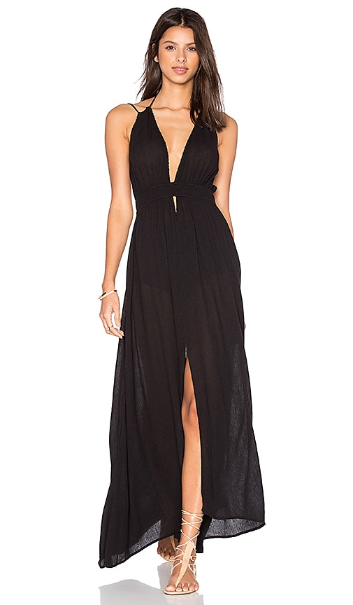 ASTR Belen Maxi Dress in Black