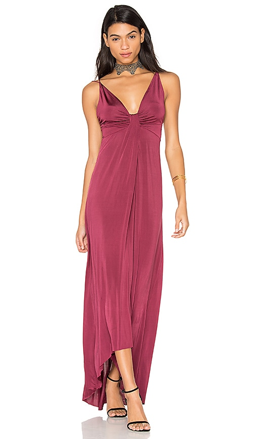 ASTR Jaclyn Dress in Burgundy
