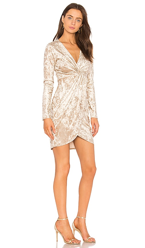 ASTR Mandy Dress in Metallic Gold