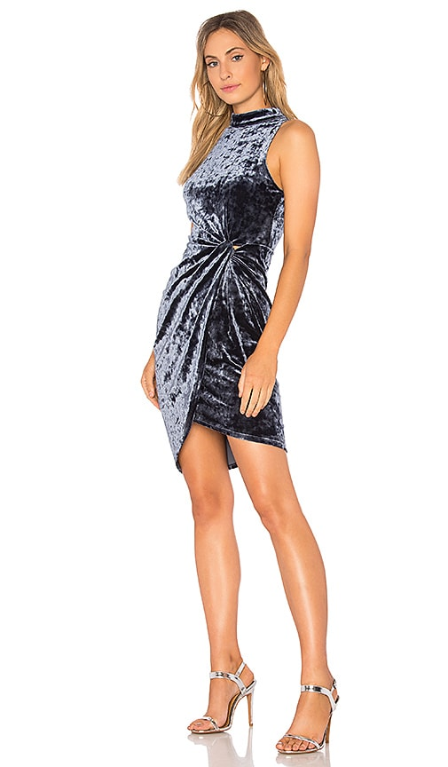 AVALON VELVET WRAP DRESS