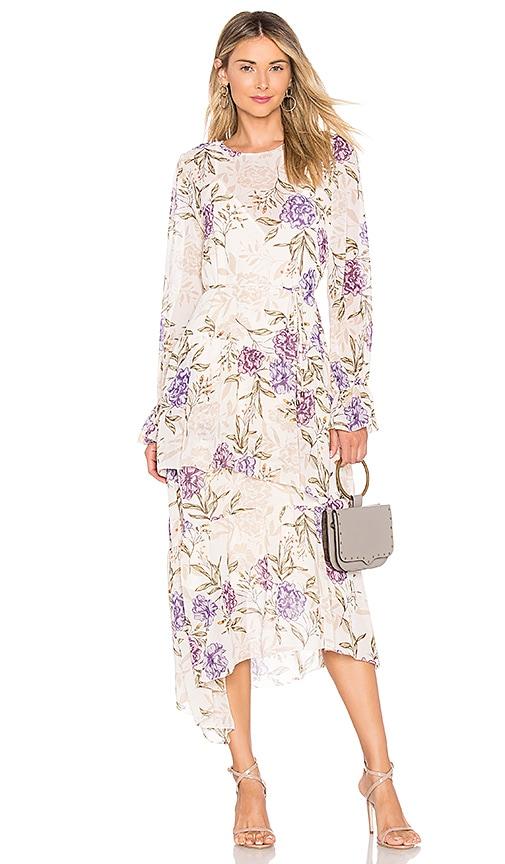 a5c311837111 ASTR the Label Mona Dress In Cream Lilac Floral in Cream Lilac ...