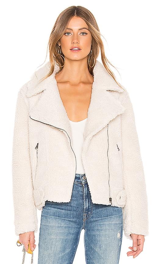 Brooklyn Faux Fur Jacket In Ivory