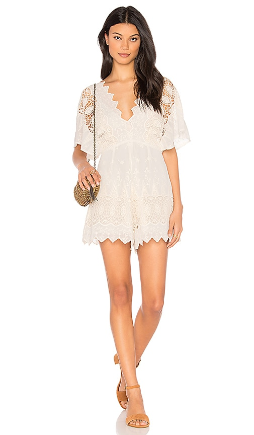 ASTR Selena Romper in White