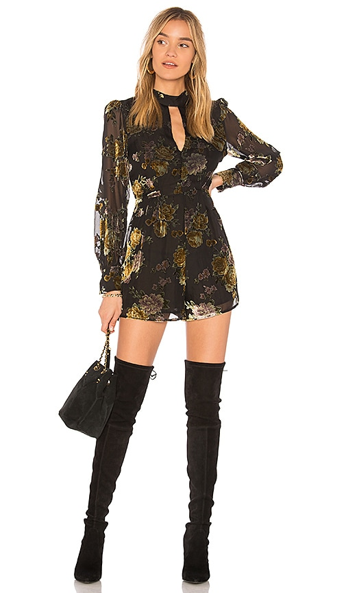 ASTR Rachel Romper in Black