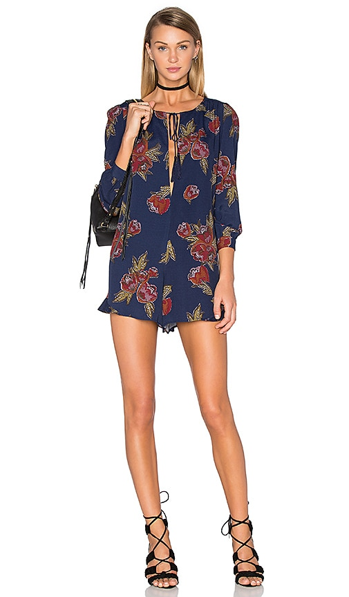 5079053b457 ASTR the Label Norma Romper in Navy Multi Floral