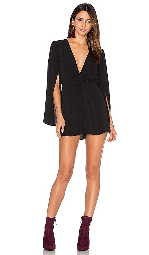 ASTR Lana Romper in Black