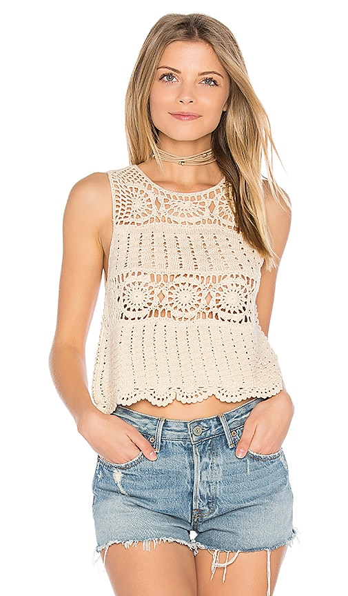 ASTR Noelle Top in Beige