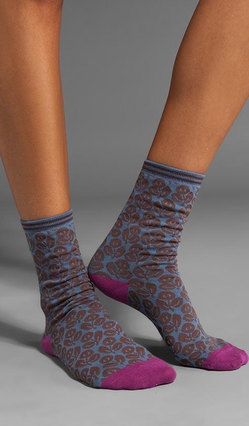 Pop Floral Crew Socks