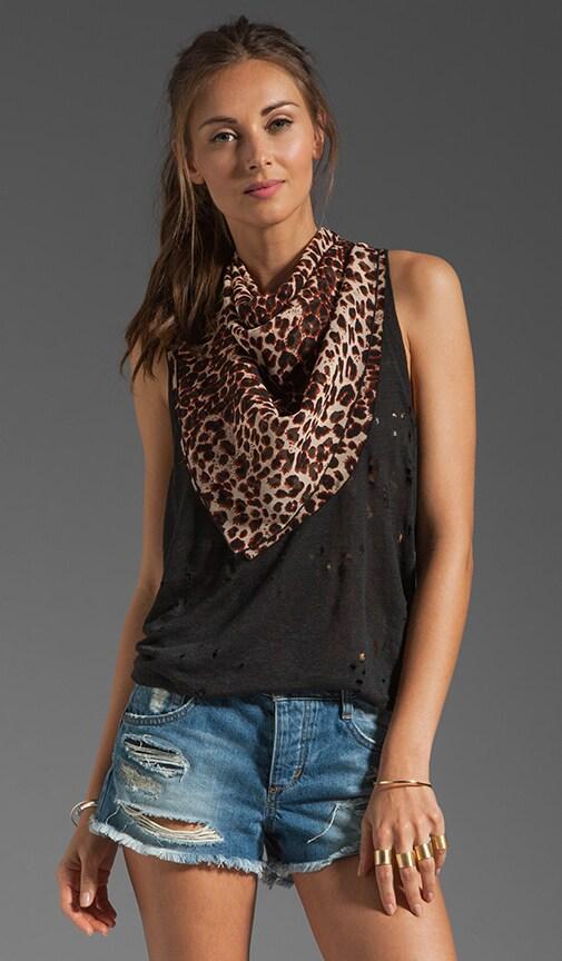 Leopard Silk Chiffon Scarf