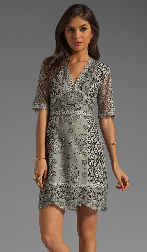 Antique Mixed Lace Dress