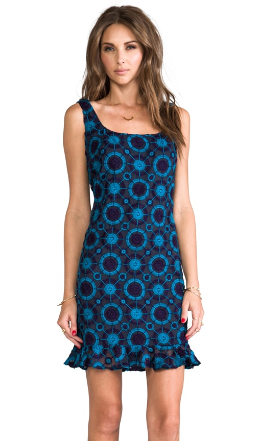 Circle Embroidered Tank Dress