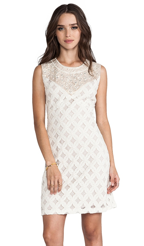 RUNWAY Lace With Diamond Beading Tank Dress